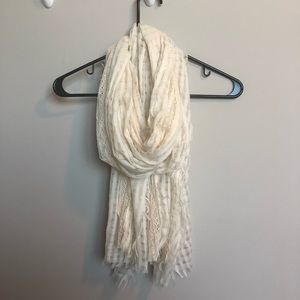 Charlotte Russe cream lace scarf